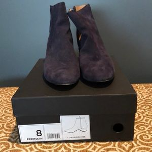 Banana Republic navy suede booties